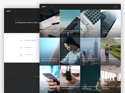 News, Contact page picjumbo pj companies company sapie platform simple elegant classy ui redesign