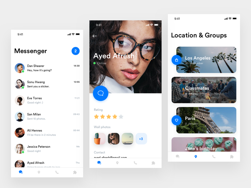 Messenger App by Jakub Reis for PLATFORM