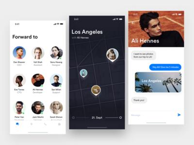 Messenger App profile messages inbox light modern photo clean x messenger app