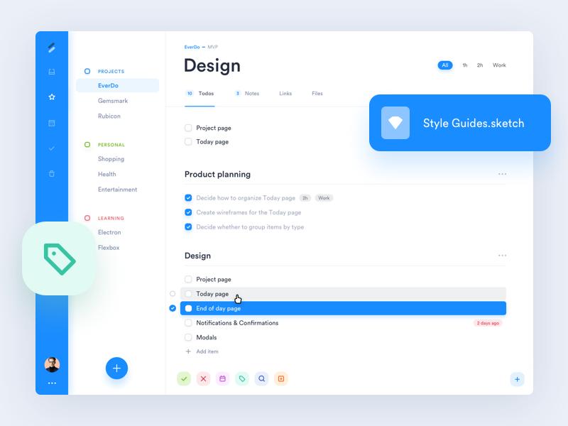 EverDo - App Design dashboard tasks ui clean tool app management to-do to do os x mac