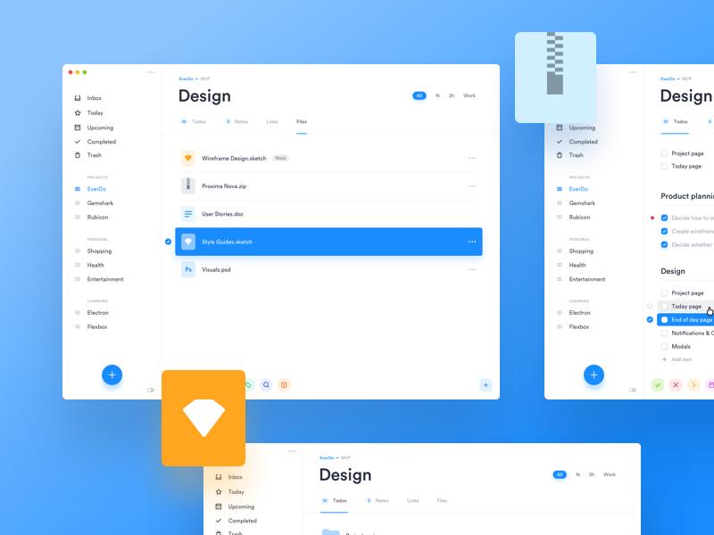 EverDo - ToDo App task dashboard ui tool to do tasks os x management mac clean app