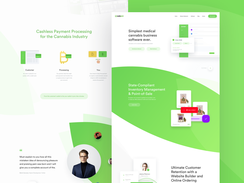 Webjoint - Landing page mac web webdesign weed medical marihuanna cannabis clean green vape nation