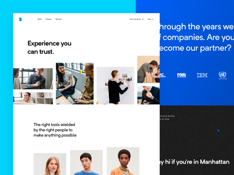 BLL - About Page people about photos logo typography webdesign redesign app website ui clean modern