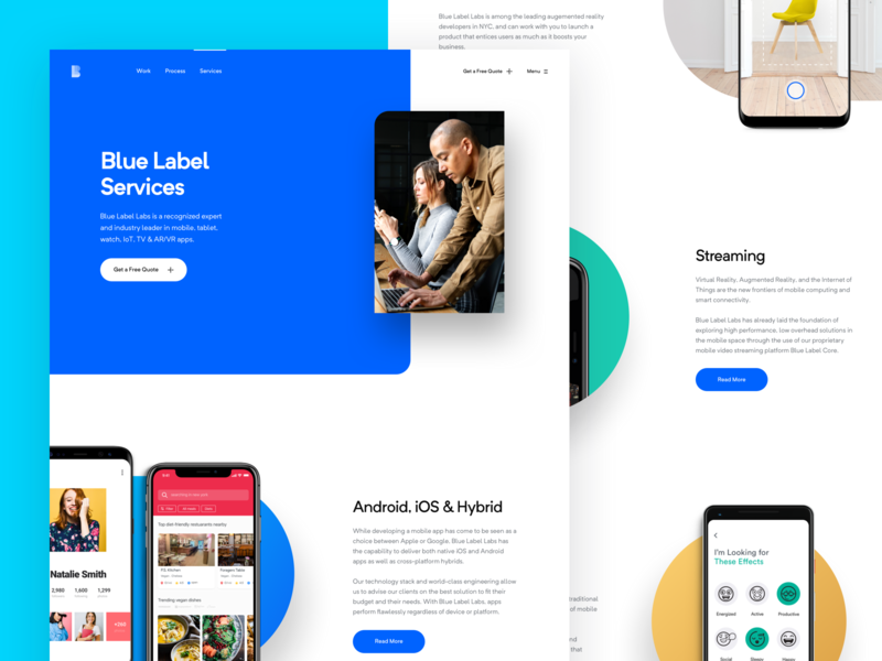 BLL - Services Page agency development services photos simple redesign app ui website clean modern