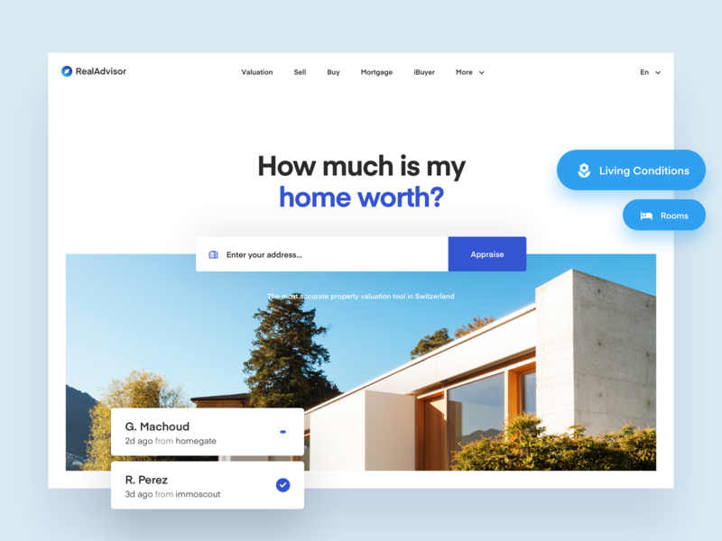 Real Advisor Homepage Exploration 02 modern simple clean interface simple house real estate architecture modern house home balkan brothers webdesign ui redesign
