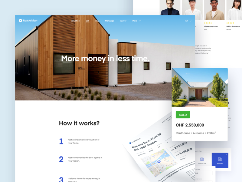 Real Advisor Sell Page simple clean interface modern simple house architecture modern house home balkan brothers webdesign ui redesign real estate