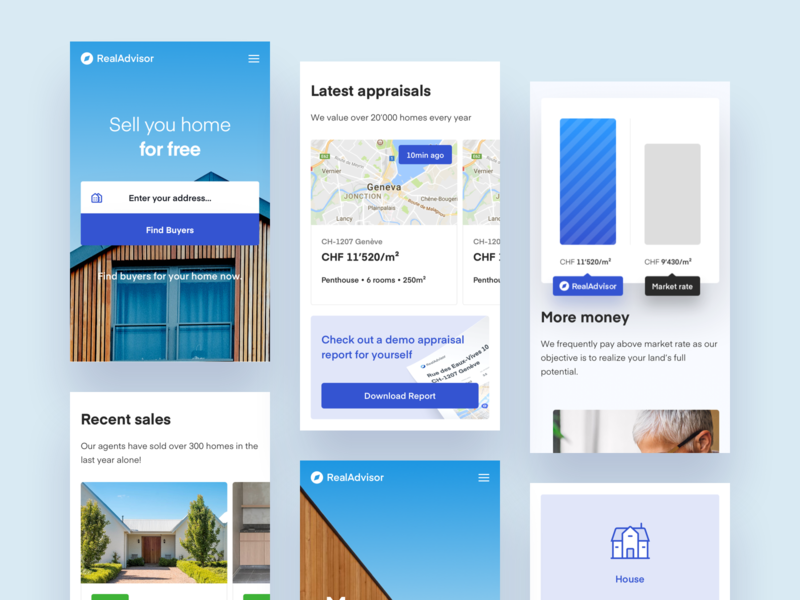 Real Advisor Mobile Version modern simple clean interface simple house architecture modern house home balkan brothers webdesign ui redesign real estate