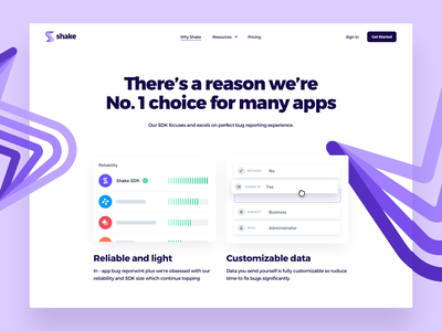 Shake - Why Shake illustration design playful illustration photos simple webdesign app website redesign clean ui modern