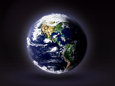 Globe globe icon earth clouds