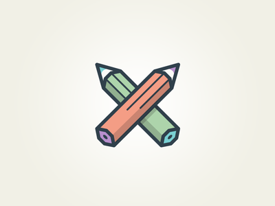 Humping pencils tinker playful logo icon