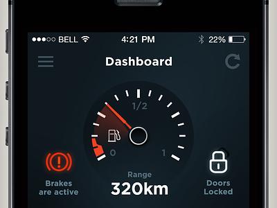 Connected car car ui app ios smart