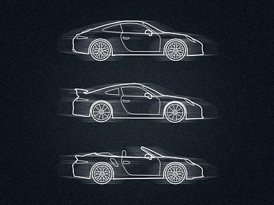 Porsche 911 porsche 911 illustration icon