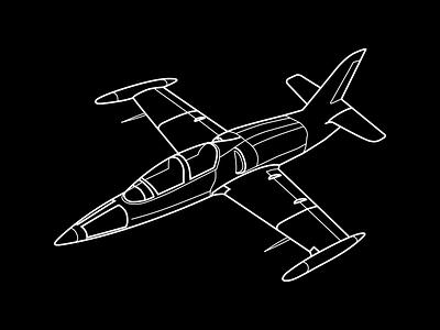 L39 Fighter Jet fighter jet line icon