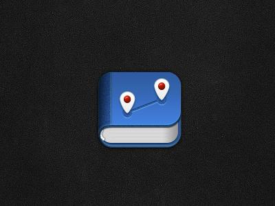 Travel diary book icon
