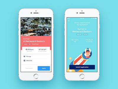 Pack jobs ui illustration mobile app