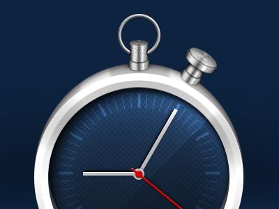 Modern pocket watch clock watch photoshop icon