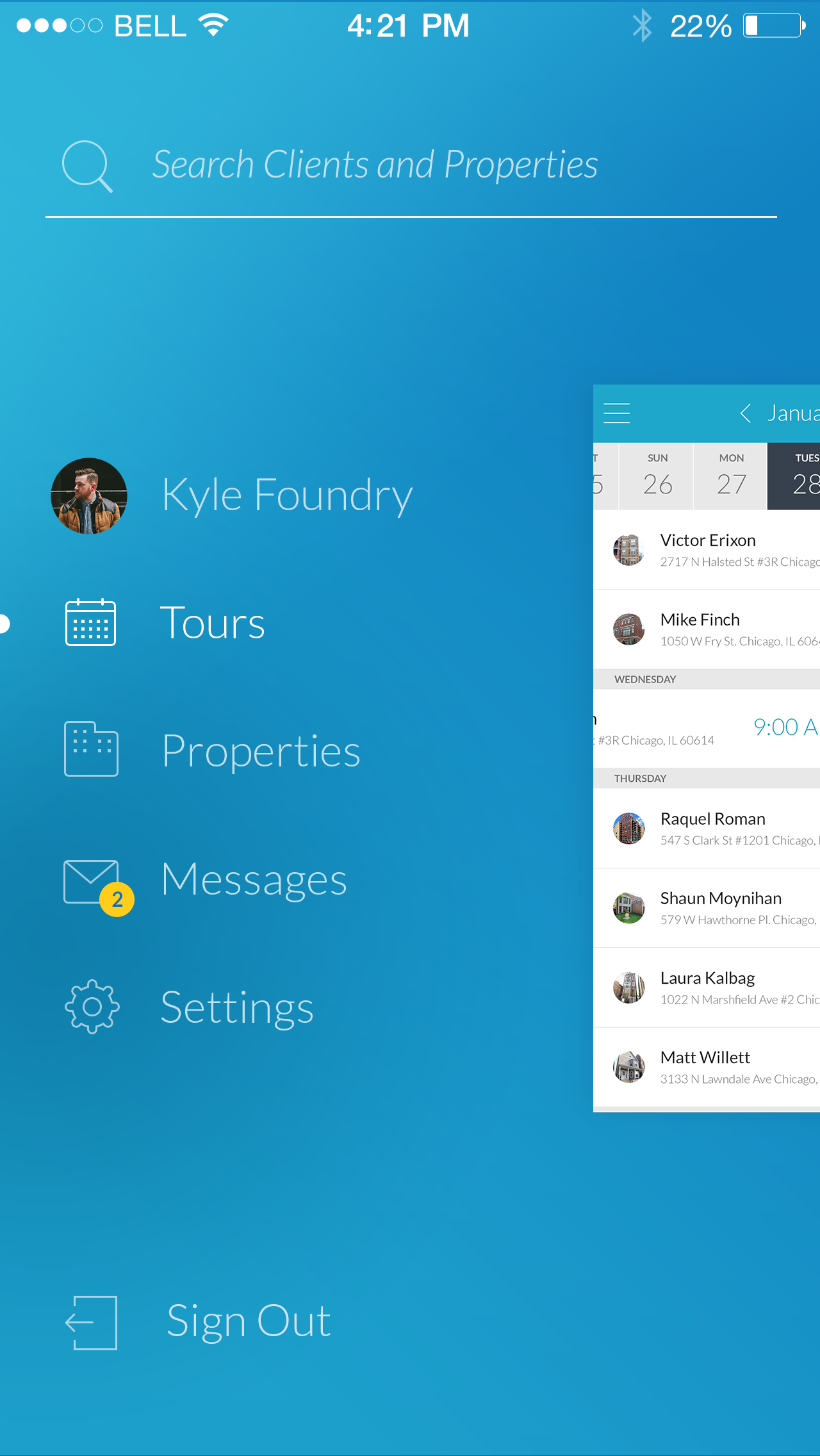 Realync iphone v01 menu