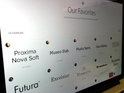 Our Favorites – Fonts.com Team Favorites