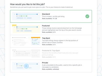 Listing A Job job sourcing recruiting ux ui web