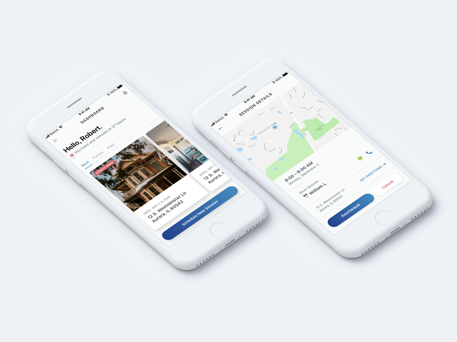 Real Estate App photography real estate app clean ux ui