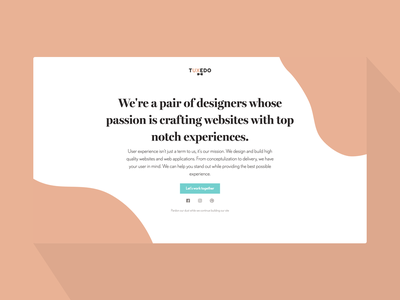 Landing Page agency landing page agency branding agency agency website logo mark wip landing page simple design clean typography web ux ui