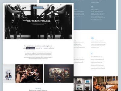 Arts Marketing Site marketing agency consulting arts marketing simple design typography clean web ux ui