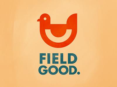 Field Good. farmers market grocery store weekly warm-up texture flat design branding logo logo design chicken logo
