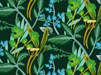 Green and Blue Herb Pattern