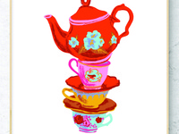 Teacups and Teapot