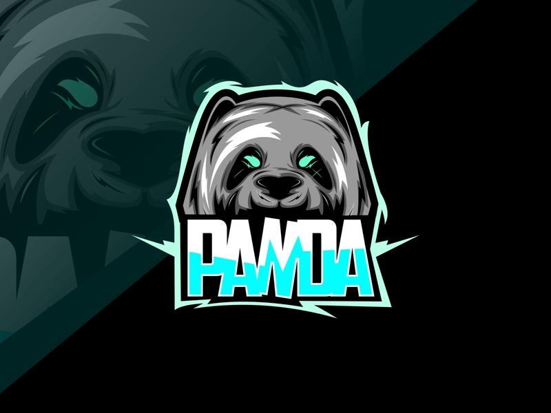 panda face jungle esport predator style symbol cute angry illustration logo panda mascot icon club bear vector team animal sport wild