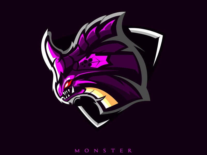 monster mascot esport emblem element e sports drawing dragon dinosaurs design danger cute creative concept color character cartoon background art animal angry abstract