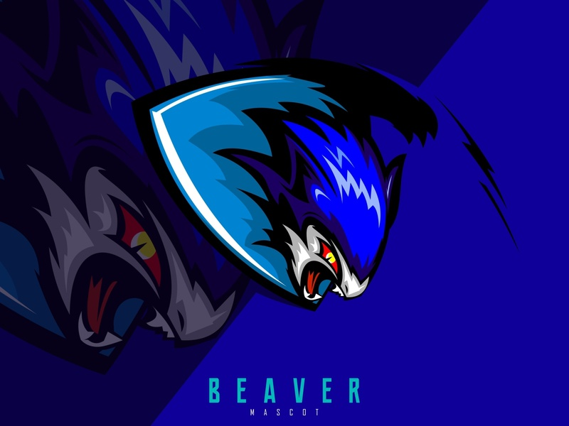 beaver logo illustration icon head graphic fish element drawing dolphin design club character cartoon brand blue beaver vector beaver logo beaver animal angry