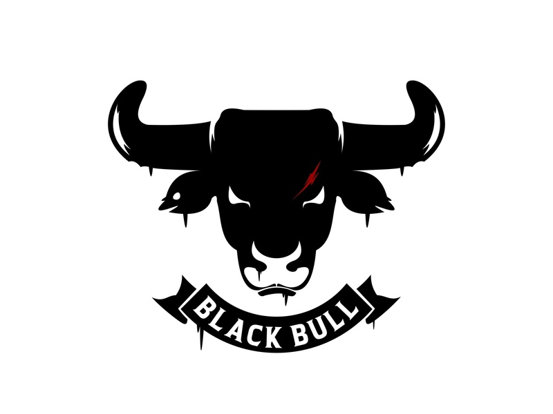 black bull strong mascot isolated cow angry head taurus farm bull logo symbol black icon sign design silhouette animal illustration vector wild