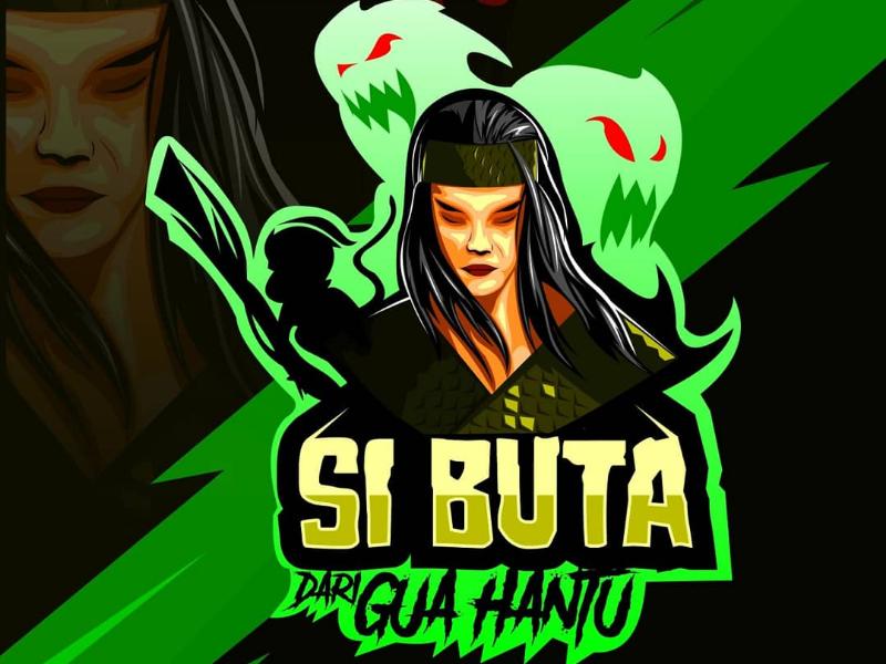 Hero legend indonesian logo mascot warrior ghost green hero