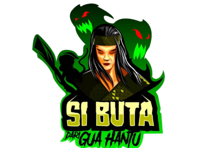 A hero legends from indonesian legends logo mascot green ghost hero