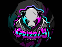 Grizzly gaming team sport e-sports esports grizzly bear logo gaming game mascot