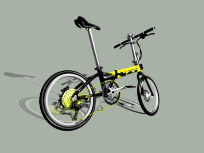 Folding bike vector illustration foldingbike vector design bicycle bike