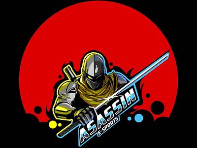 Asassin e-sports sports hero asassin ninja team esports gaming logo mascot