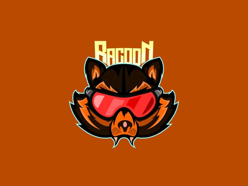another racoon esport game head symbol logotype mascot sign icon logo design wild sport racoon illustration raccoon cartoon animal vector emblem art