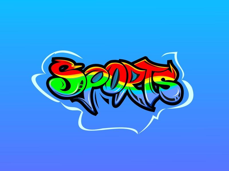 Sports graffiti texture hip-hop artistic graphiti underground grafitti graffitti text cool culture funky art abstract urban illustration grafiti style colorful design graffiti