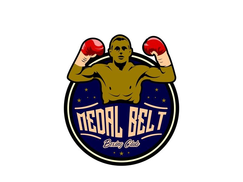 Boxing Club print sport boxer icon stamp fighter club emblem logo sign vector badge sticker banner label illustration symbol fight winner boxing