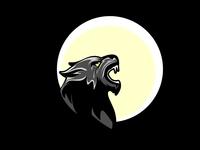 Wolf warewolf and moon