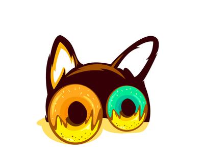 eyes donut dog