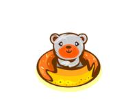 cute bear in donut