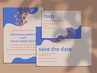 Abstract and Colorful Wedding Invitation
