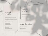 Simple, Elegant, Clean Wedding Invitation