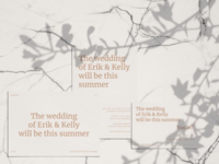 Minimal, Bold, Typography Centered Wedding Invitation