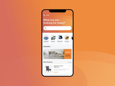 Reezy - Classifieds / Furniture App mobile ui mobile mobile app store app android directory classified store furniture app furniture ios interaction flat app design app ux minimal design ui