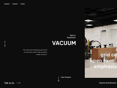 Ui/UX Dailies - Design Inspiration 006 studio scandinavian style scandinavian dark typography website web design web ux ui minimal interface designinspirations design daily ui dailyui clean branding