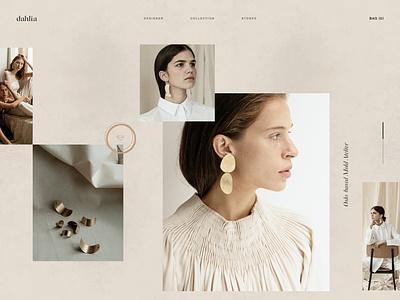 Ui/UX Dailies - Design Inspiration 007 jewels designinspirations dailyui daily ui interface website clean ux web design web branding minimal design ui scandinavian design scandinavian style scandinavian product jewelry